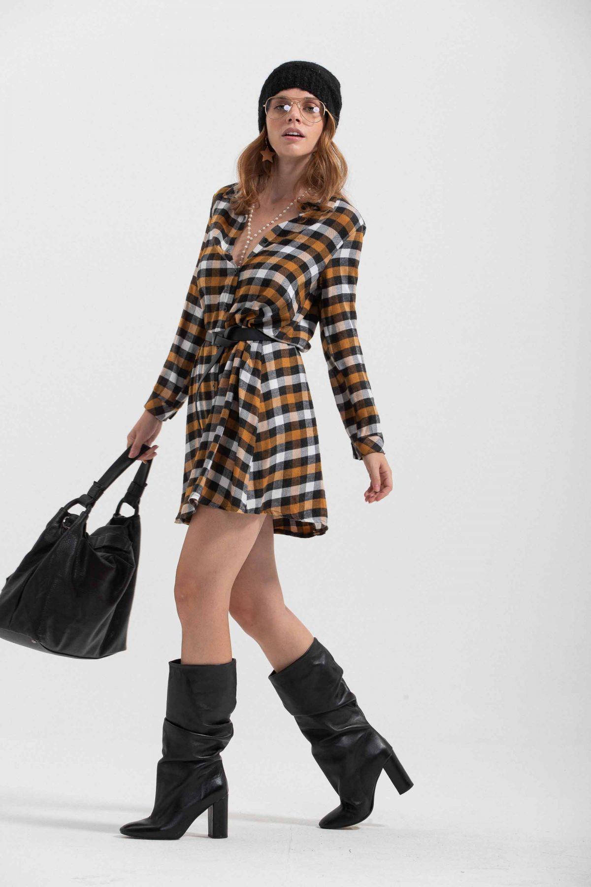 mini dress check