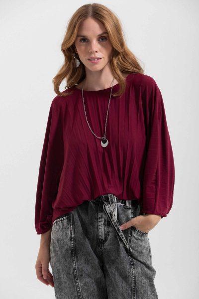 blusa plissé
