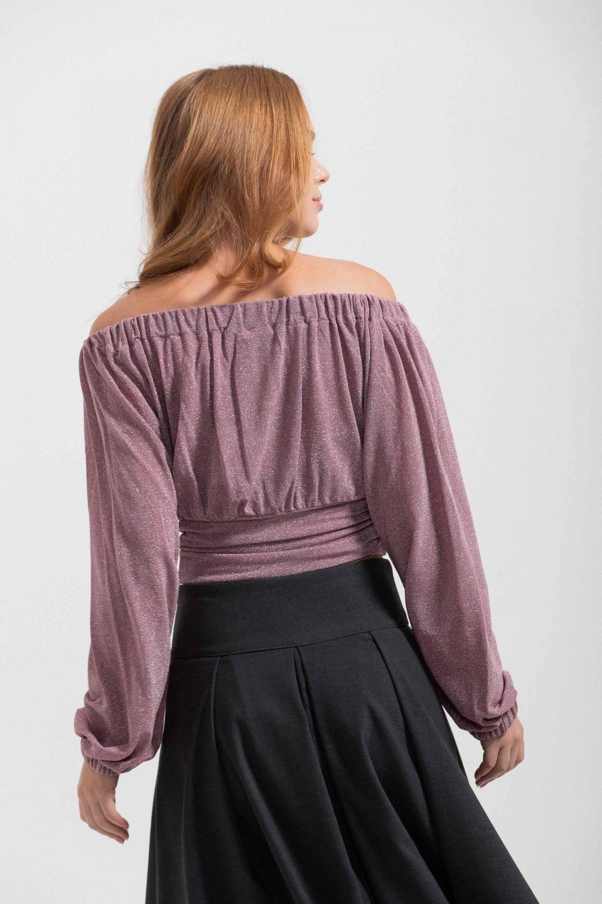 maglia scollo con fiocco