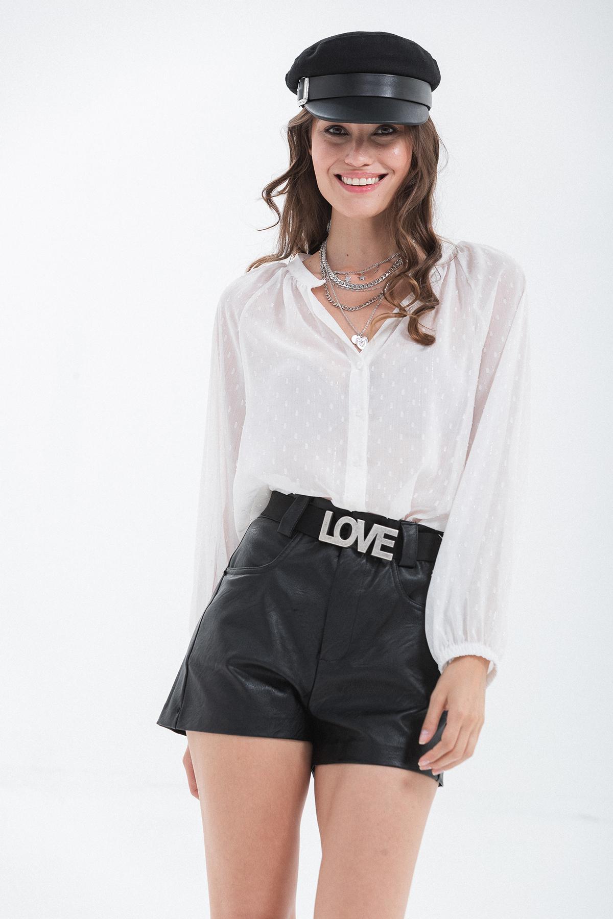 camicia plumetis filo lurex